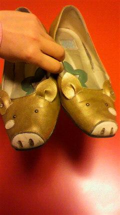 ブタさんの靴