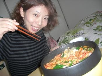 美香Lとキムチ鍋
