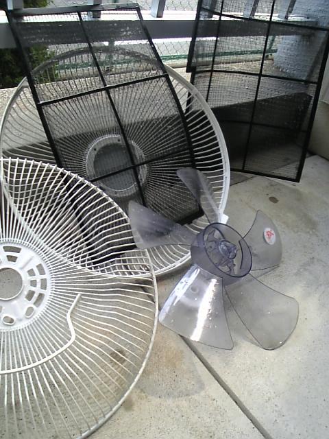 扇風機の掃除♪