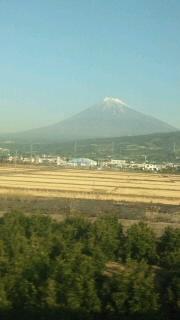 名古屋帰りの富士山