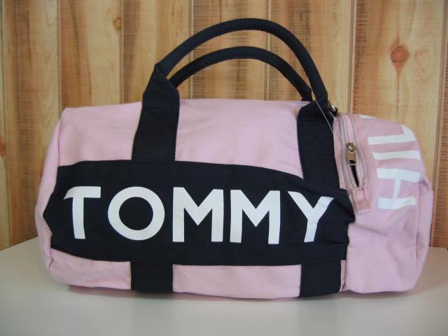 トミー ヒルフィガー ドラムバック ピンク