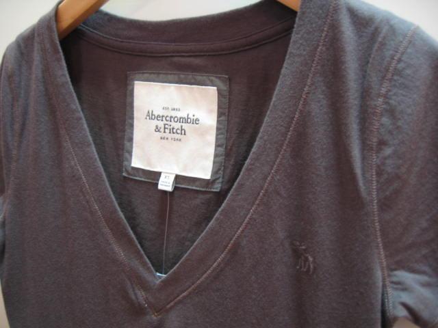 アバクロ ムース VネックTシャツ