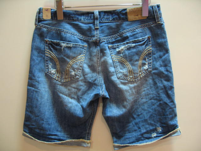 HOLLISETER LADIES DENIM SHORTS