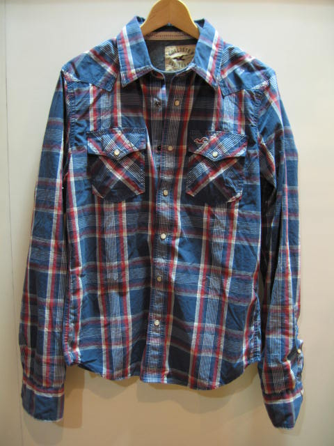 HOLLISTER PLAID SHIRTS T-SHIRT