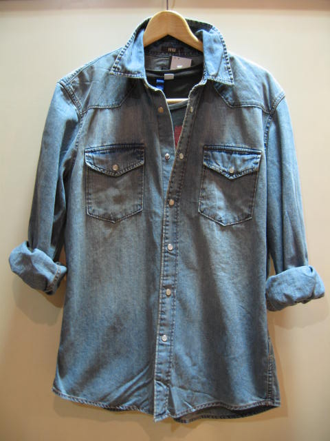 H&M DENIM LONG SLEEVE SHIRT