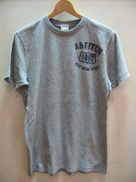 ABERCROMBIE & FITCH MENS FRONT LOGO T-SHIRT