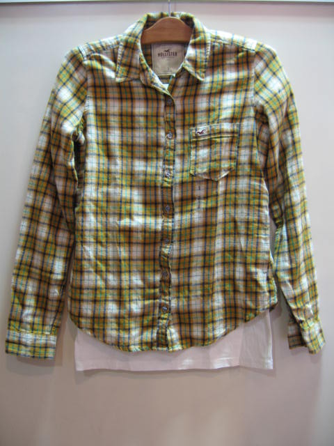 HOLLISTER PLAID SHIRTS SIZE S
