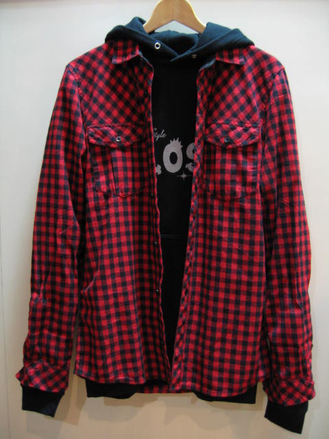 H&M CHECK SHIRT RED BLACK