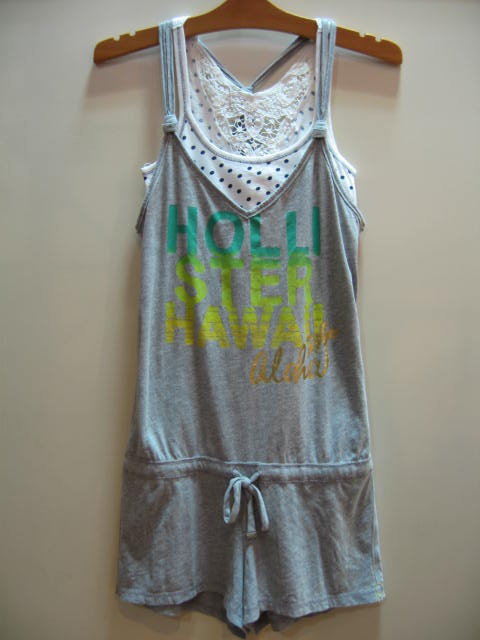 HOLLISTER ROMPERS GREY SIZE S