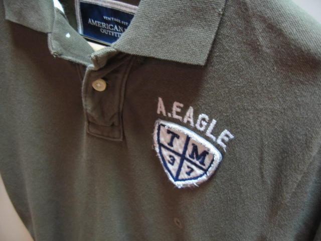 AEM-0909-9-1 アメリカンイーグル メンズ ポロシャツ カーキ サイズM