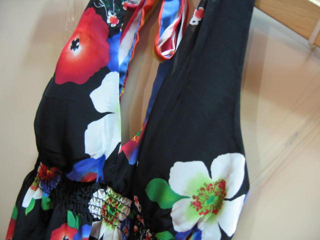 FVL-0906-46-1 フォウエバー21 ホルダーネックドレス 花柄