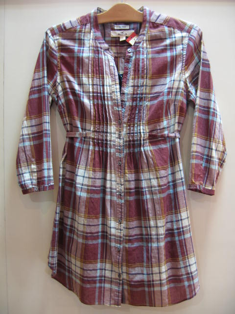 HOLLISTER LONG PLAID SHIRT RED SIZES