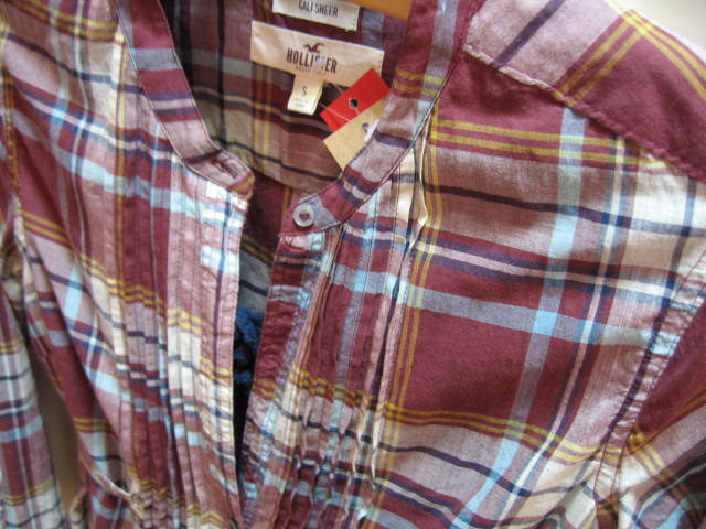HLL-0909-44-1 ホリスター ロング丈 チェックシャツ