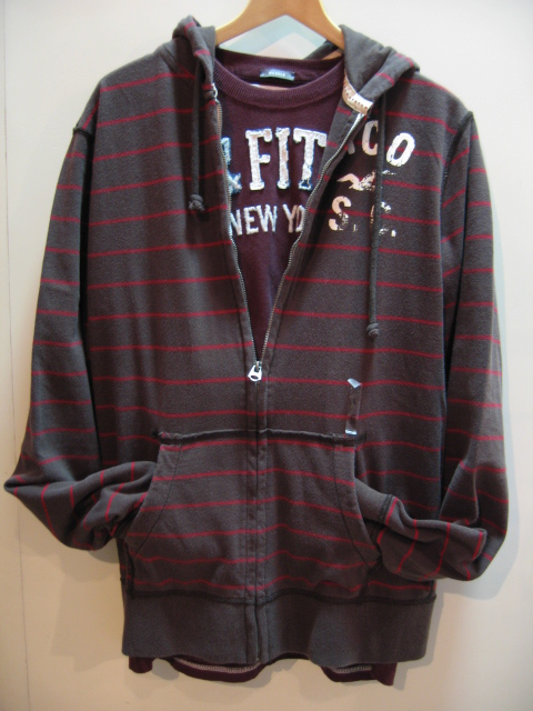 HOLLISTER STRIPE PARKA