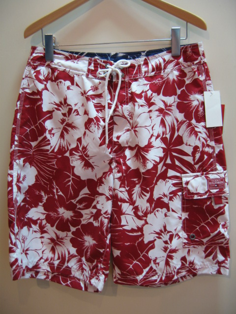 TOMMY HILFIGER BORD SHORTS RED/WHITE