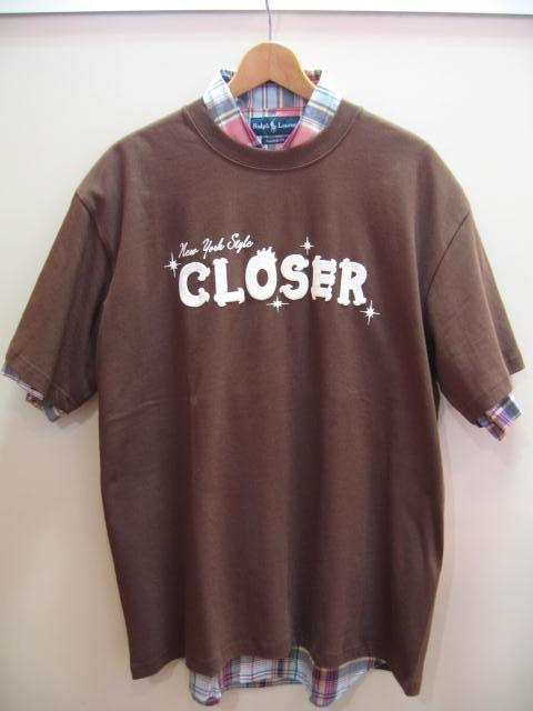 CLOSER ロゴTシャツ 茶 XL