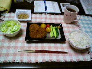 コロッケ+味噌きゅうり+ザクザクサラダ