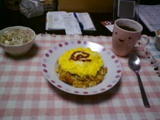オムライス+納豆腐