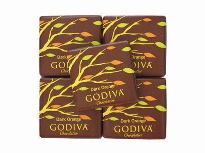 GODIVA--カレ ダークオレンジ。