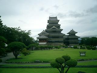 松本城 庭