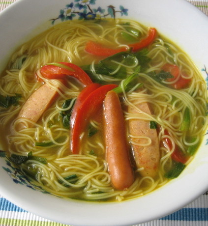 カレー味のにゅう麺