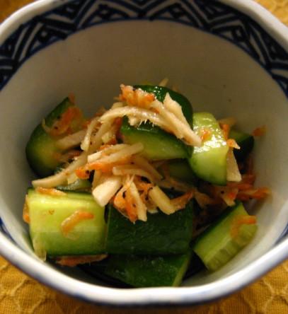 生姜と胡瓜の和え物