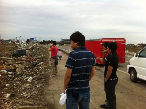東北大震災被災地での炊き出し活動