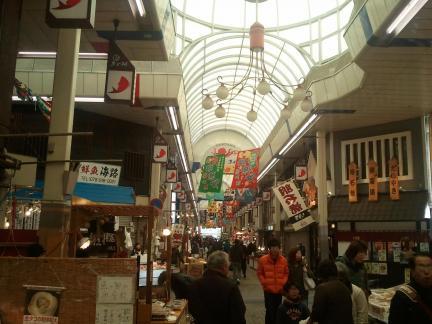 2012/1/14 魚の棚商店街