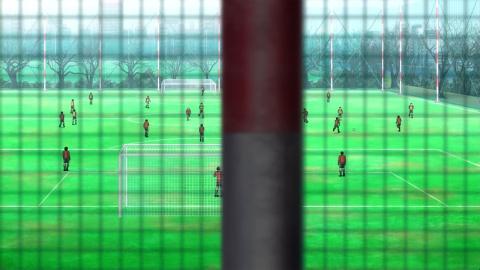 ゴールの見えないフィールドをひたすらドリブルするアニメと凄く対象的
