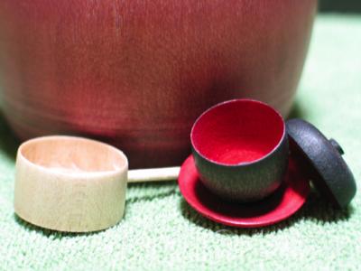 木地玩具・ひしゃくとお茶碗