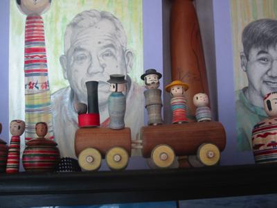 木地玩具・汽車