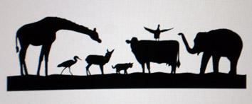 動物シルエット デザイン