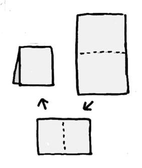 チラシゴミ箱の作り方1