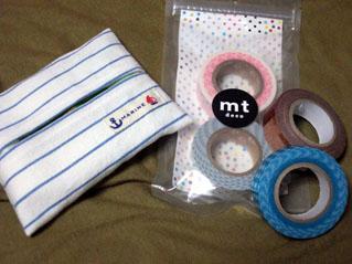 ティッシュケースとマスキングテープ