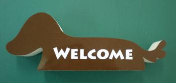カットボード ダックス犬 茶色