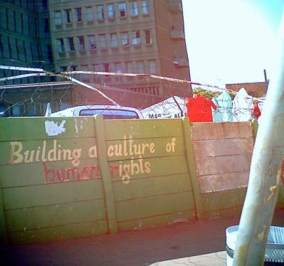 南アフリカの洗濯物