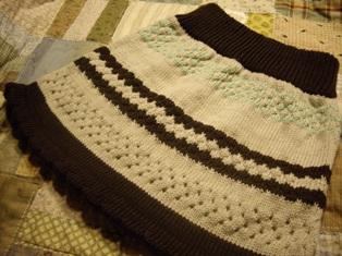 機械編みのスカート