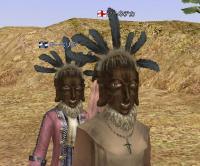 ヨルバ仮面の二人