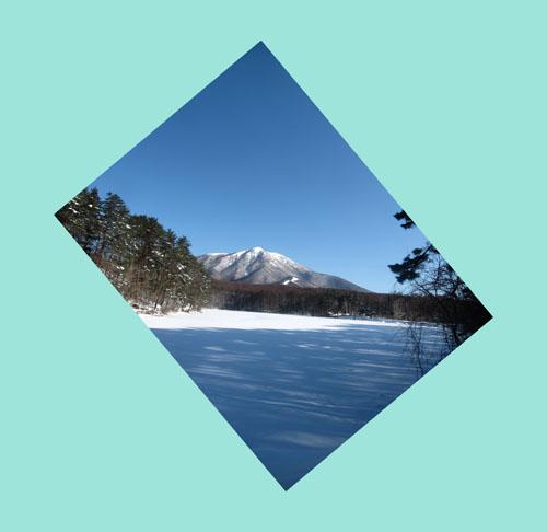 飯綱湖と飯綱山