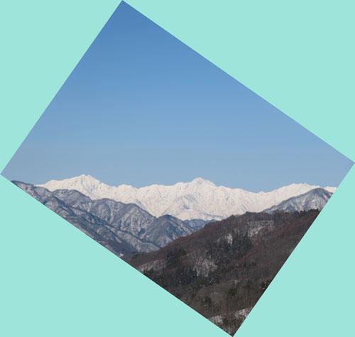 山から山へ 春