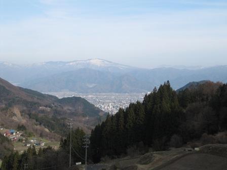 長野市街地を見下ろす場所