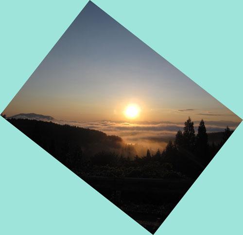 晴れています 飯綱東高原