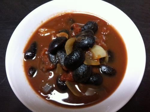 紫花豆のスープ