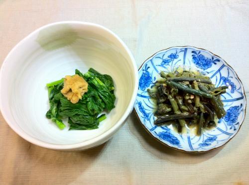 わらび&春菊