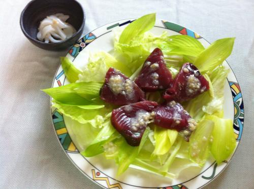 鰹とイカの前菜