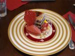 栗と洋梨のチョコレートケーキ@カファレル