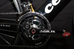 Rotor Kristin Armstrongs Agilis cranks with CinQo meter