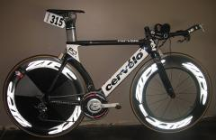 Cervelo P3 with SRM and large pulley RD