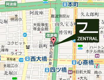 ゼントラルへの地図