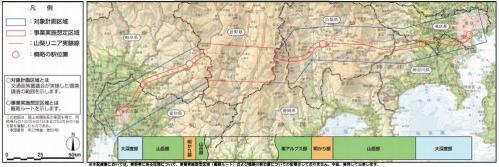 リニア中央新幹線ルート案